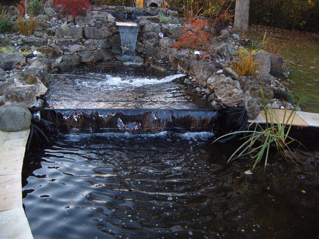 Carter 39 s ponds and landscapes ponds and water features for Tiered pond waterfall